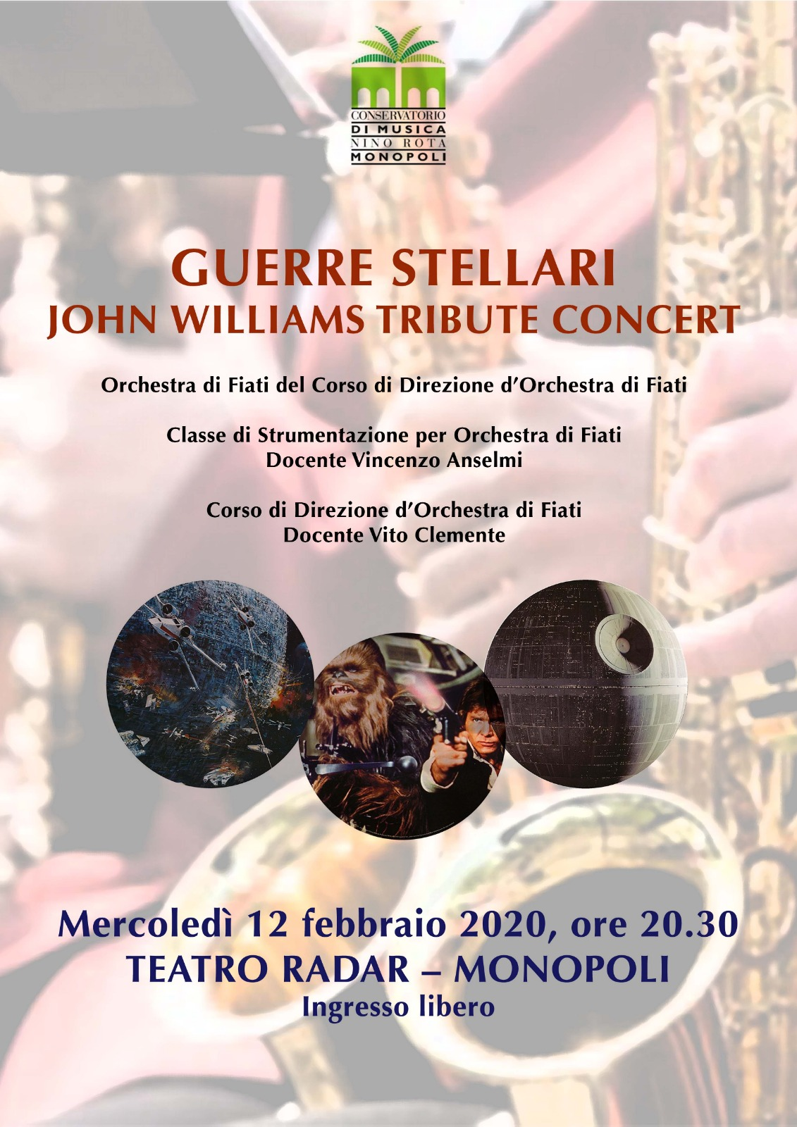 GUERRE STELLARI - JOHN WILLIAMS TRIBUTE CONCERT